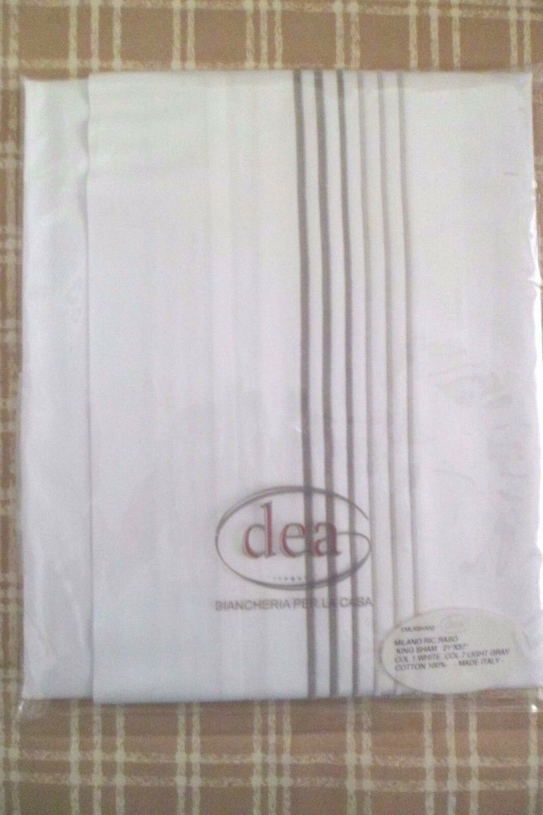 Brand New DEA Luxury Linen 100% Egyptian Cotton King Sham White 21