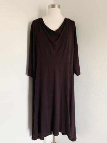 Eileen Fisher Drape Cowl Neck Rayon Lycra Modest D