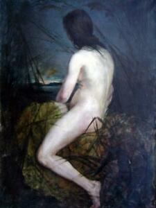 "high quality 24x36  oil painting handpainted on canvas ""nude with reeds """