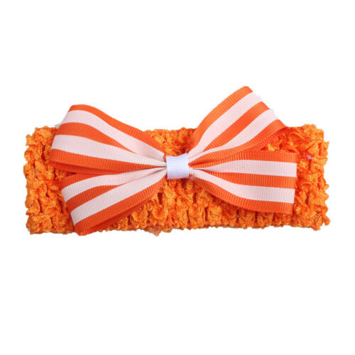 NEW Girls Kids Children Baby Elastic stripe Party Bow Hair Head band headband