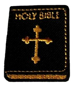Bible And Doves Embroidered Iron On Patch
