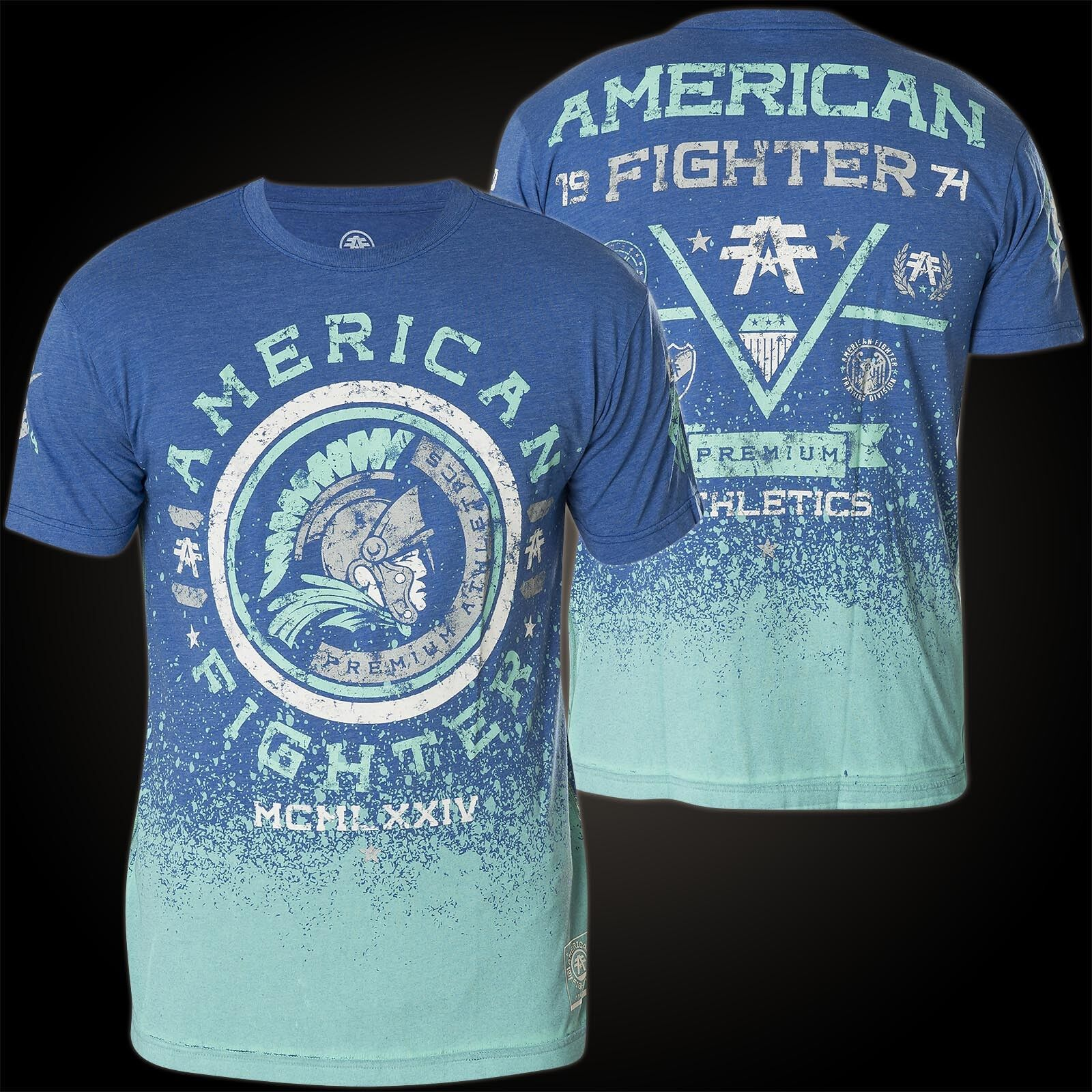 AMERICAN FIGHTER Affliction T-Shirt Addition Blau T-Shirts
