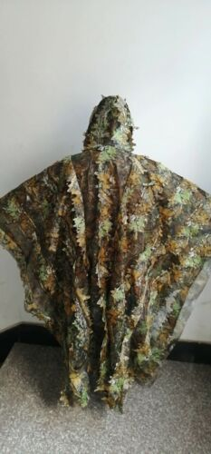 Leafy Poncho Jungle Ghillie Suits Hunting Camouflage 3D Bionic Leaf Yowie Mesh
