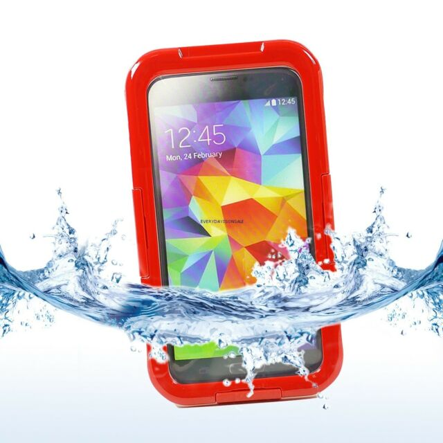 Waterproof Shockproof Snowproof Phone Case Cover for samsung Galaxy S5 S 5 Red