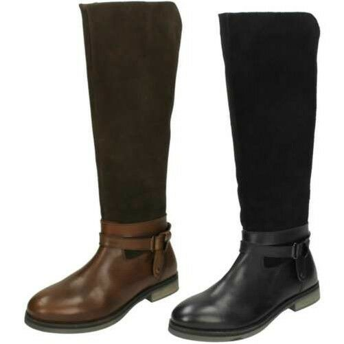 Ladies Leather Collection Zip Fastened Knee High Boots