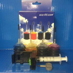 ECO-BLACK-amp-COLOUR-INK-CARTRIDGE-REFILL-KIT-HP-Deskjet-F2420-F2480-F2492-F4210