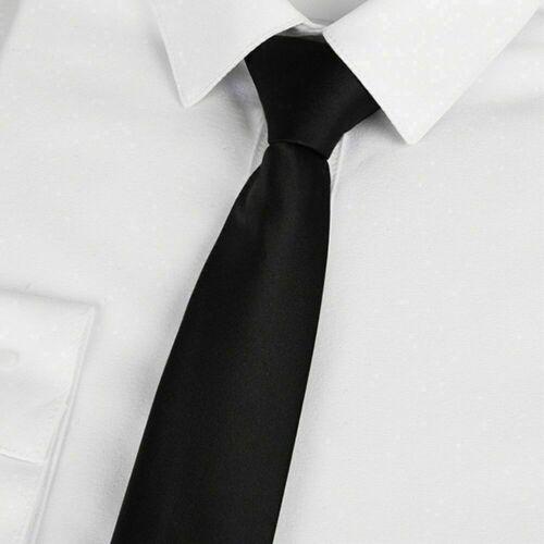 Männer schwarz Clip auf Krawatte Sicherheit Doorman Steward Matte Begräbnis H2W8