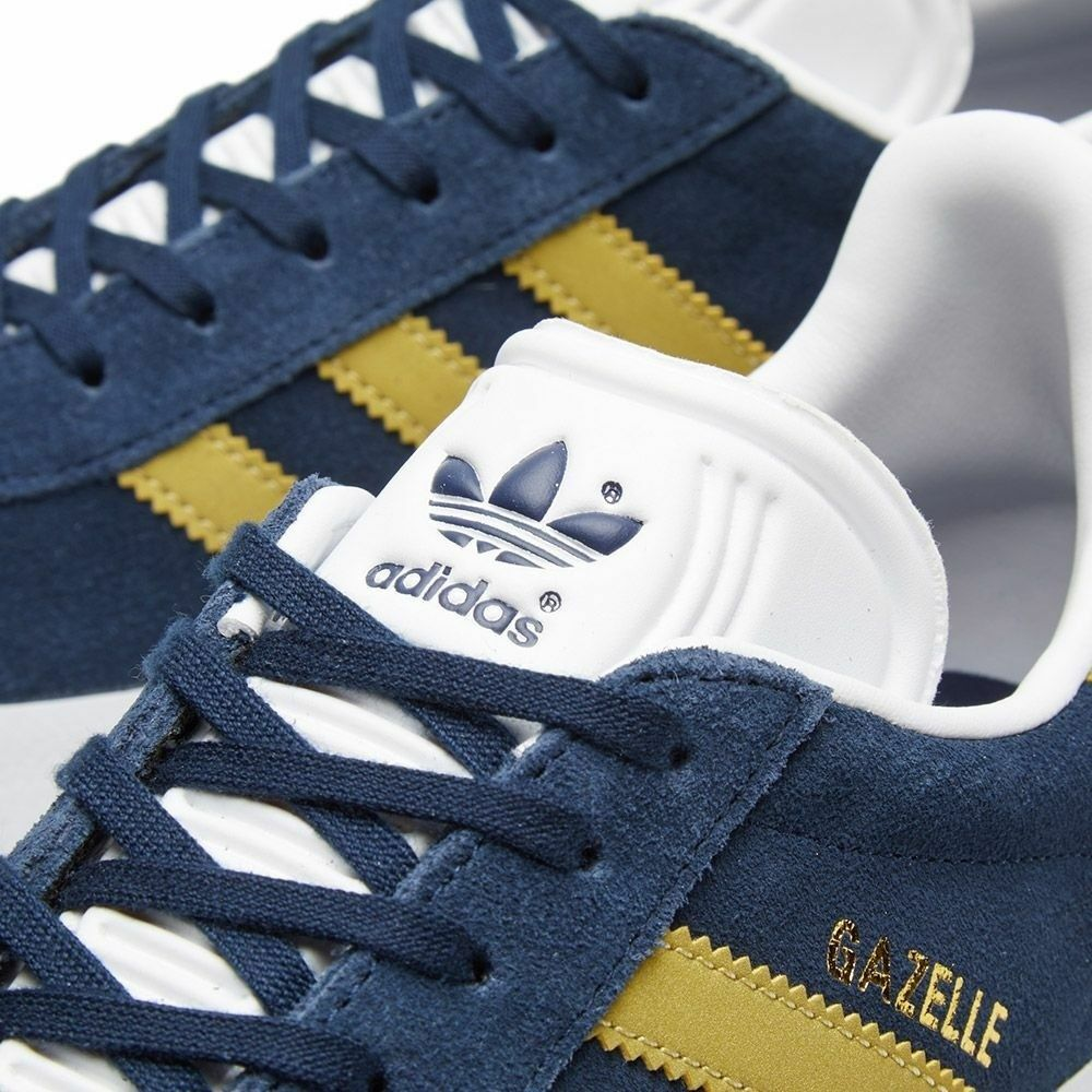 Brand New ADIDAS GAZELLE Suede Navy UK & Gold CP9705 Trainers UK Navy Größe 4.5 a105b9