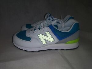 mundo pared Humedal  Men's New Balance 574 Casual Shoes Deep Ozone/Blue/Bleached Lime ML574PWB  402 Si | eBay
