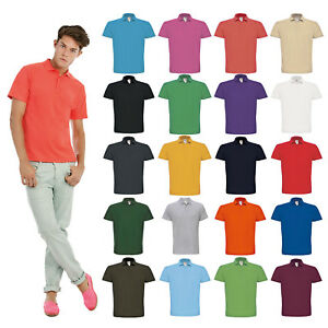 B-amp-C-Collection-ID-001-Polo-Shirt-PU110-Men-Fitted-Short-Sleeve-Tee-Sport-Plain