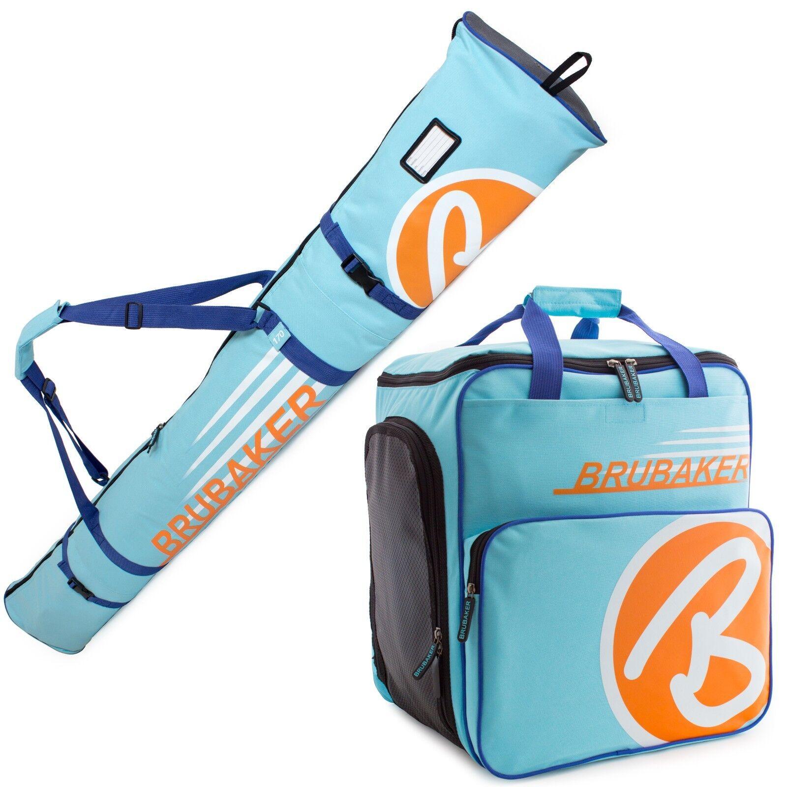 Light bluee orange Ski Bag Combo for Ski Poles Boots and Helmet -Limited Edition-