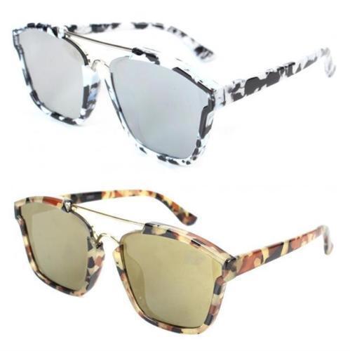 NUOVA linea donna Donna Ragazze Designer occhiali da sole a specchio bar