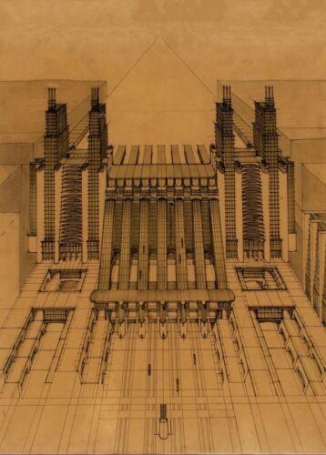 Stations of Airplanes ANTONIO SANT/'ELIA Vintage Architecture Futurism Poster