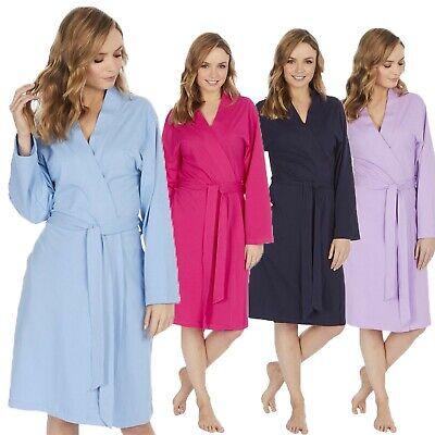Femmes 100 Coton Leger Peignoir Kimono Robe De Chambre Femme Vacances Ete Ebay