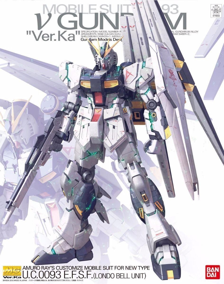 Bandai Mg 1 100 RX-93 Nu Gundam Ver Ka Kit plástico modelo Char's Counter Attack