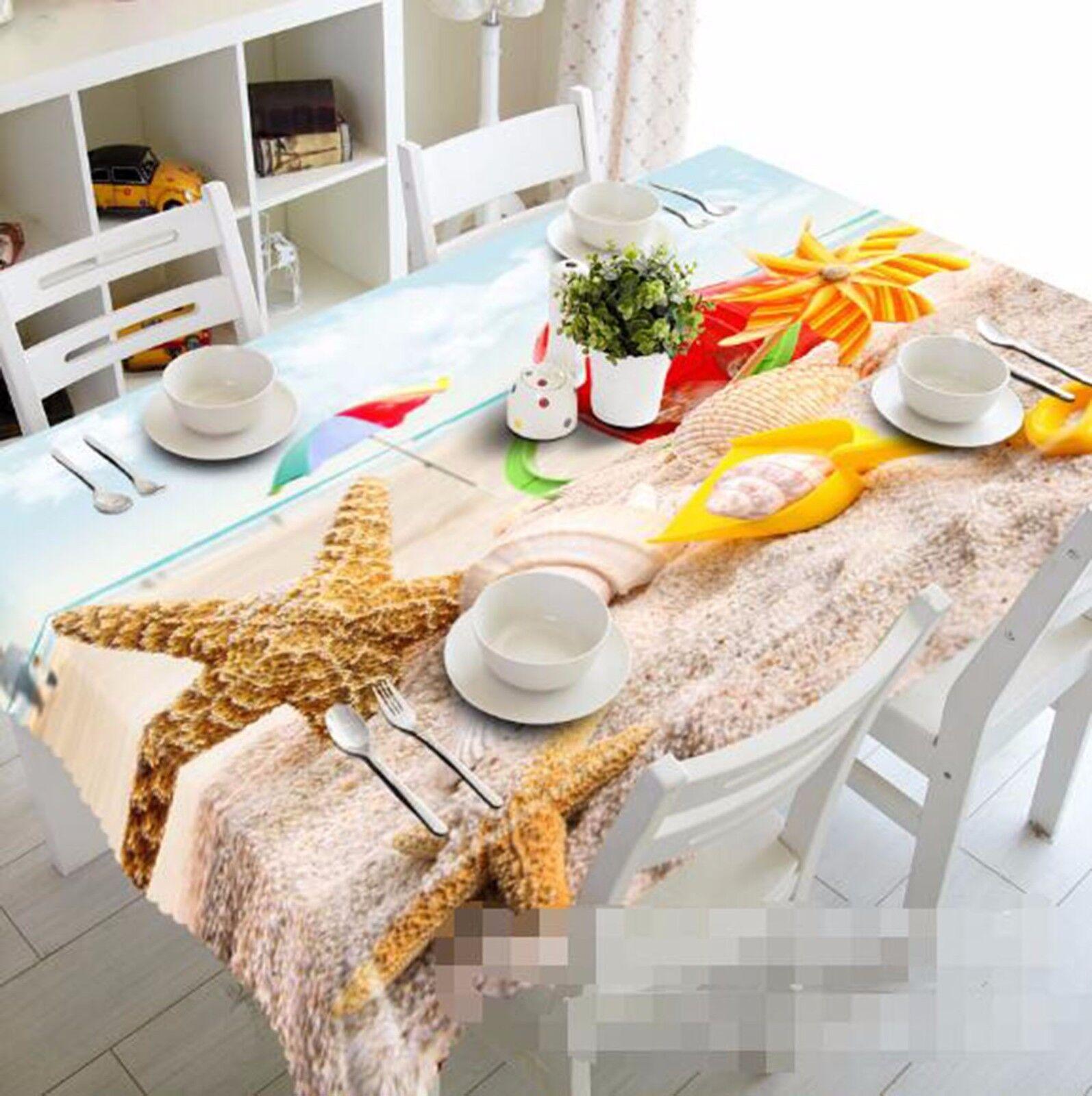 3D Seafish 5 Tablecloth Table Cover Cloth Birthday Party AJ WALLPAPER UK Lemon