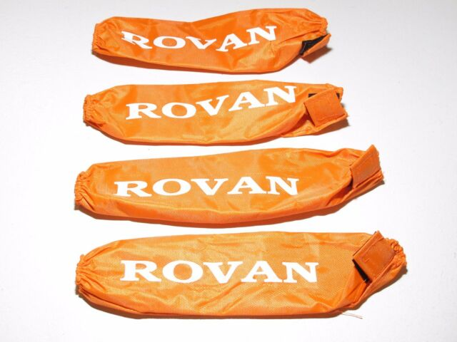 YY-MADMAX HPI KM ROVAN BAJA 1/5 5T 5B SHOCK SOCKS COVERS ORANGE
