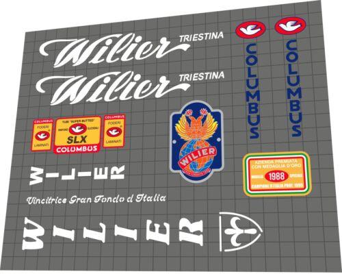 WILIER Triestina Ramata 1985//1988 Frame Sticker Decal Set