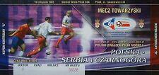 TICKET 16.11.2003 Polska Polen vs. Serbien Herzegowina