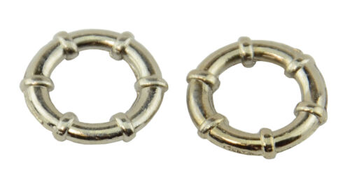 59004-186 25 Round Metal Ring Spacer Beads