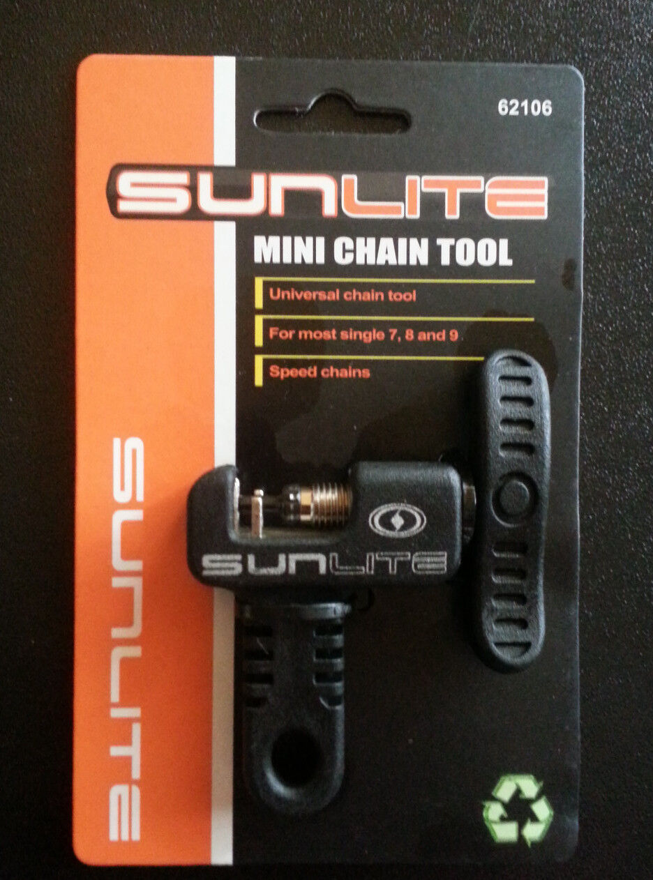 SUNLITE BICYCLE MINI CHAIN BREAKER TOOL REPLACEABLE PIN ROAD MOUNTAIN FIXED