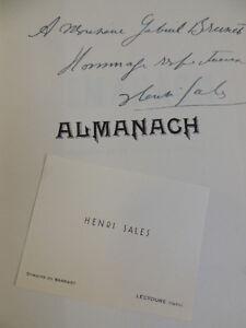 ALMANACH Henri Sales Carte De Visite Envoi