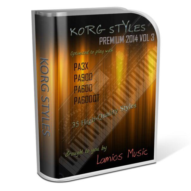 Korg Styles Premium 2014 Vol3 for Korg PA300 PA600/QT PA900 PA3X PA4X. 35 Styles
