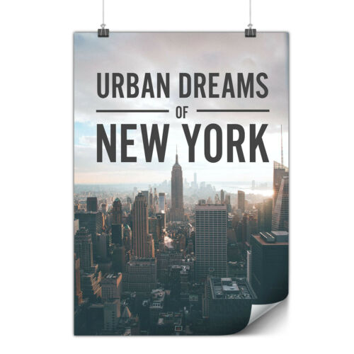 Dream Urban Photo New Matte//Glossy PosterWellcoda