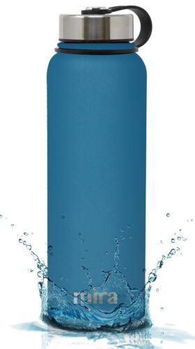 MIRA Insulated Double Wall Vacuum Stainless Steel Water Bottle 40oz HawaiianBlue