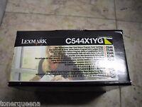 Genuine Lexmark C544 C546 X544 X546 X548 Extra H/y Yellow Toner C544x1yg