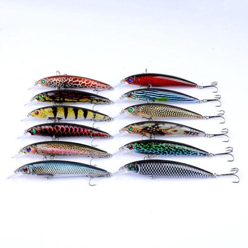 11cm//13.4g Color Painting Fishing Lure Artificial Crankbaits Minnow Wobbler Lure