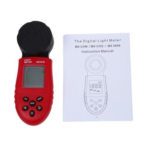 200,000 Digital Luz Medidor LCD Luxmeter Lux//FC Luminometro Fotometro Mida N7Y8