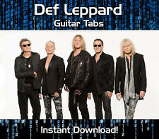 DEF LEPPARD ROCK GUITAR TAB TABLATURE DOWNLOAD SONG BOOK SOFTWARE TUITION