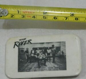 VINTAGE-THE-RIVER-PIN-BACK-BUTTON-BADGE-BRUCE-SPRINGSTEEN-RECTANGLE