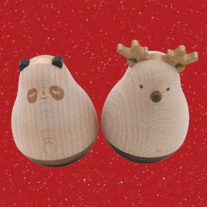 Funny Wooden Tumbler Figurines Bookshelf Christmas Household Decoration Tool R