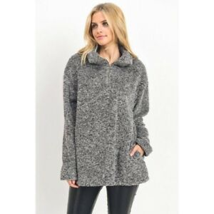 peluche en New fausse Automne Grey Fashion Manteau en fourrure Womens Boutique Z5fqqW