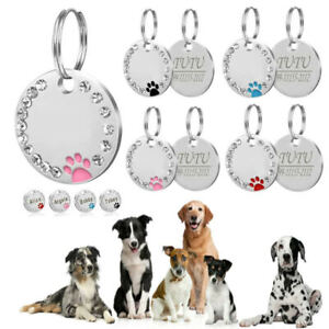 Personalised-ENGRAVING-Dog-ID-Cat-ID-Name-Bling-Tag-Puppy-Pet-ID-Tags