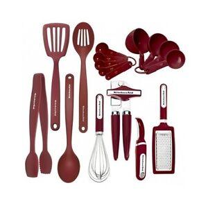 Kitchen Utensil Set 17 Piece Cooking Gad Tools Black