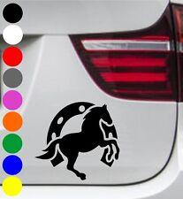 WD Autoaufkleber PFERD PONY HUFEISEN Tuning Aufkleber Sticker Decal 11x10cm BMW