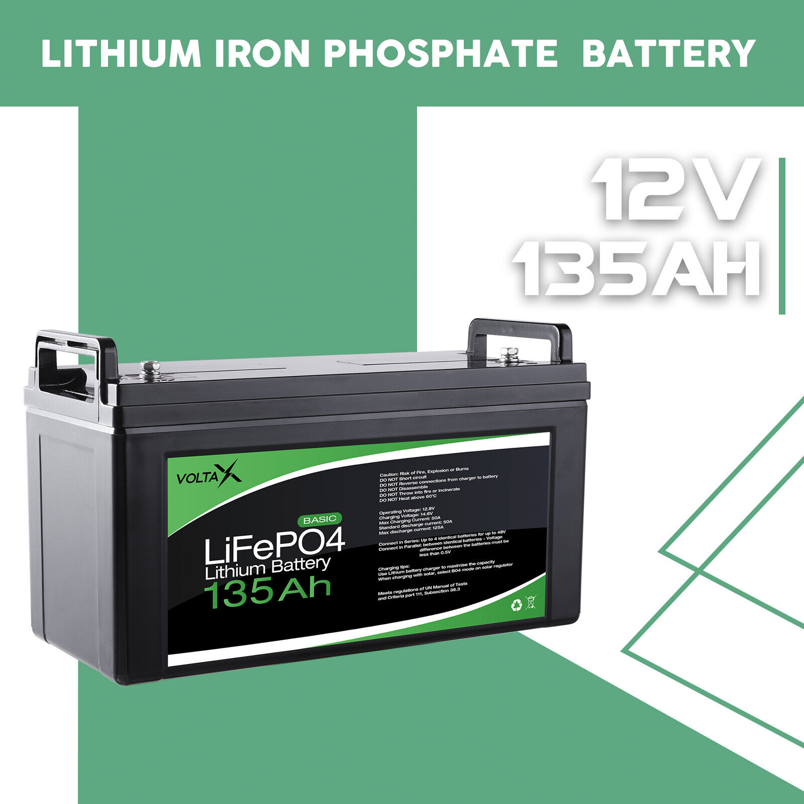 [10% OFF]12V 135ah Lithium Iron LiFePo4 Deep Cycle recharge Battery Solar 4WD