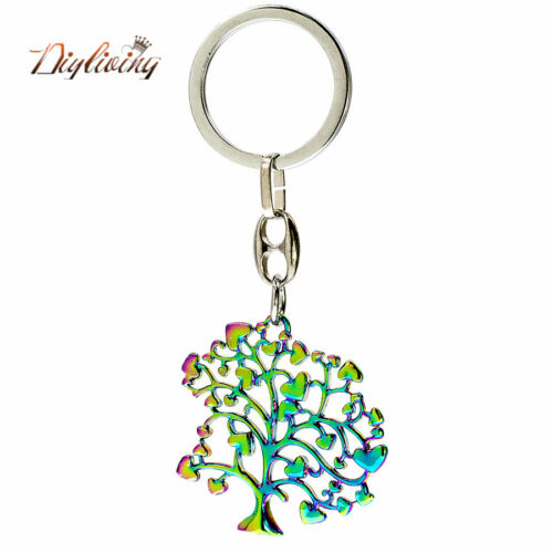 1pc Zinc alloy Rainbow Tree Pendant Necklace Chain Fashion Jewelry as a Gift