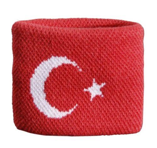 Schweißband Fahne Flagge Türkei 7x8cm Armband für Sport
