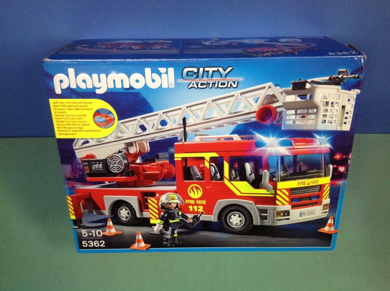 (n5362)  playmobil camion de pompiers gree échelle neuf ref 5362  n ° 1 online