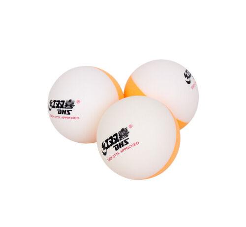 Nouveau Double Happiness DHS D40 bi-couleur Balles de tennis de table avec couture ABS UK Vendeur