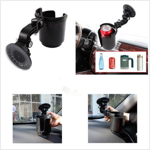 Black Adjustable Car Windscreen Suction Cup Drinks Holder Beverage Bottle Cradle