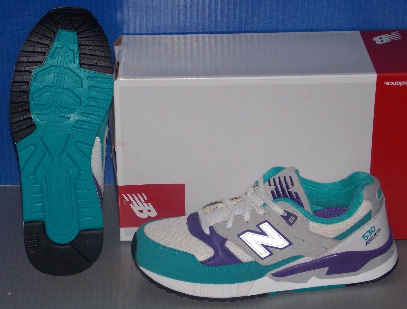 Damenschuhe NEW BALANCE colors W 530 AAA in colors BALANCE Weiß / TEAL / GREY SIZE 7 1d7620