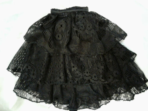mid length black lace skirt for ellowyne annora either body style