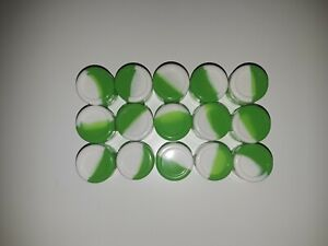 Silicone-Container-Silicone-Jar-2ml-15-PIECES-GREEN-WHITE-USA-SELLER