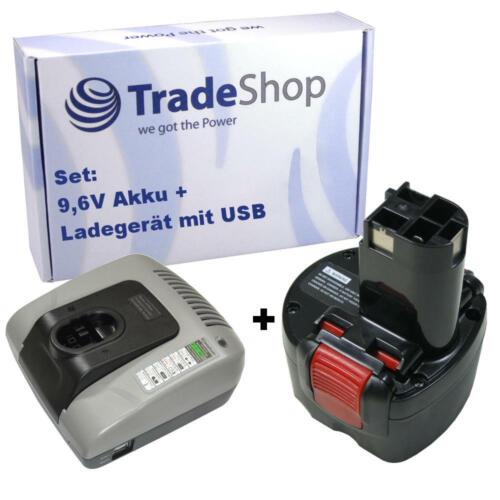 Chargeur pour Bosch 32609rt gdr9.6v psr9.6ve2 2in1 set Batterie 9,6v 3000mah ni-MH