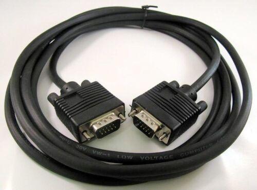 15 PIN SVGA SUPER VGA Monitor M//M Male To Male Cable CORD FOR PC TV